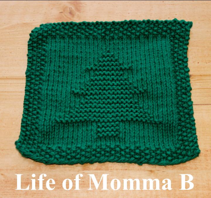 Xmas Tree Knitting Patterns : Christmas tree dishcloth free pattern
