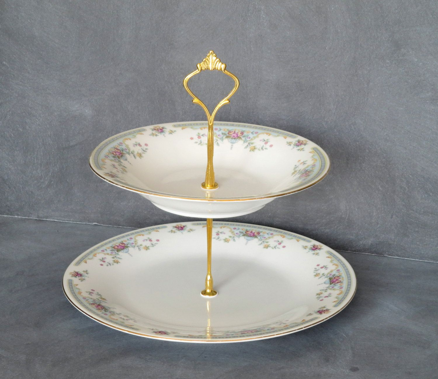 New to DancingDishAndDecor on Etsy 2 Tier Cake Plate Bridal Plate Stand Wedding Tableware | & New to DancingDishAndDecor on Etsy: 2 Tier Cake Plate Bridal Plate ...