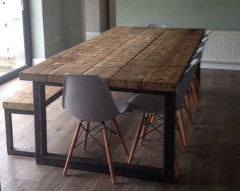 Reclaimed Industrial Chic 6 8 Seater Dining Table