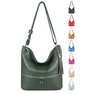 Photo of ITAL WOMEN LEATHER BAG Shopper Shoulder Bag Hobo Bag Crossover Shoulder Bag …