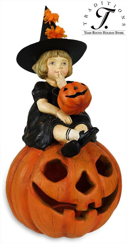 Vintage Halloween Decor! Traditions Year-Round Holiday Store Witch - lowes halloween