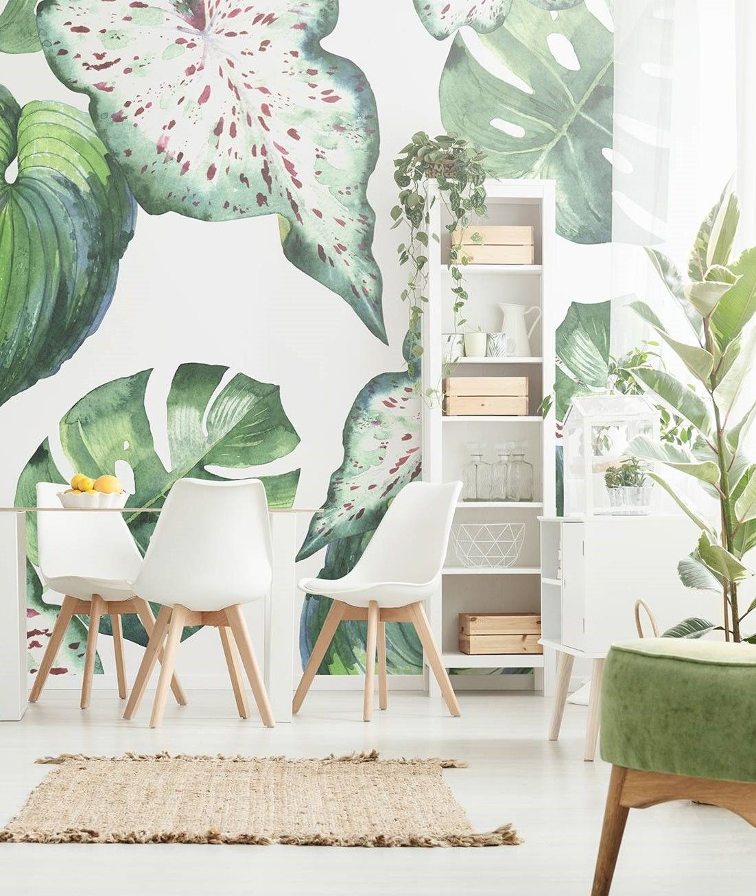 Dning Room And Plants Dining Room Contemporary Wall Murals Nature Pixers We Live To Change In 2020 Dining Room Contemporary Feng Shui Interior Design Contemporary Wall