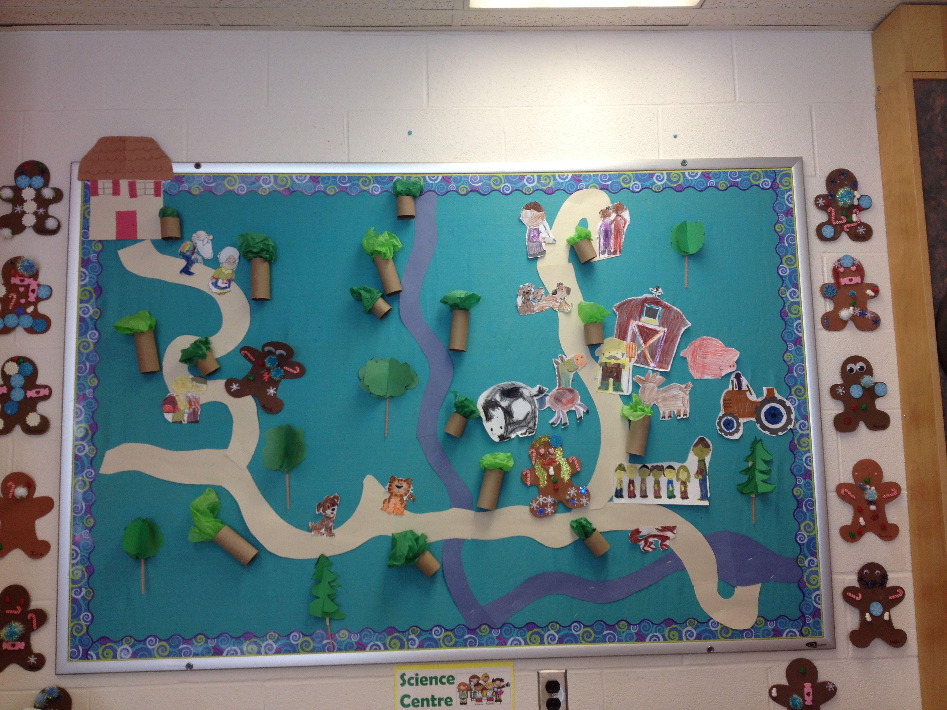 Gingerbread Man Story Map Graduation Themes Pinterest