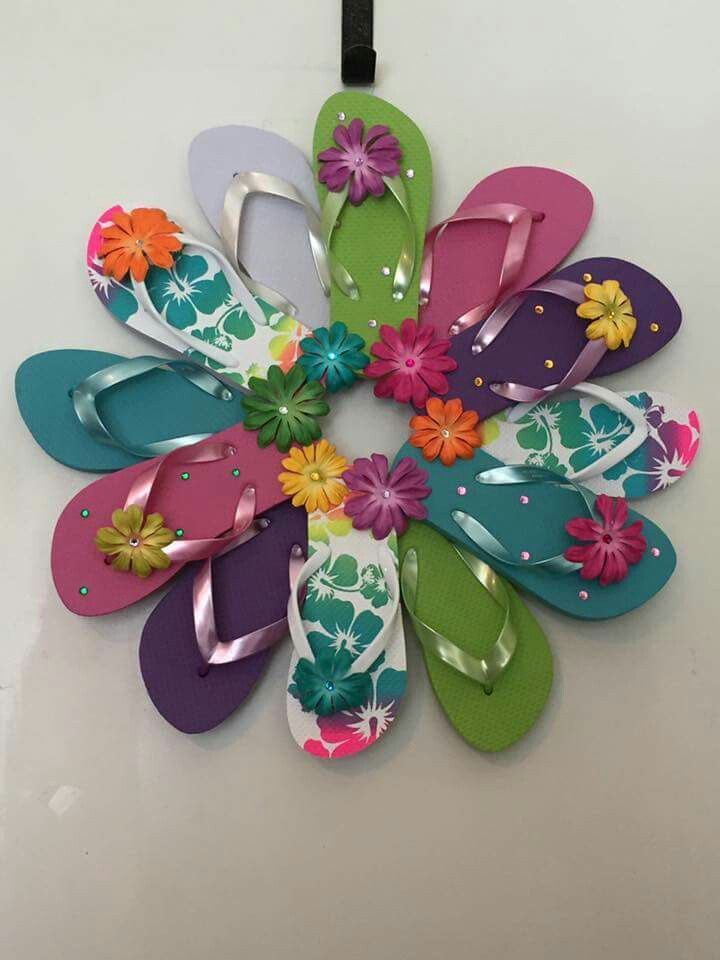 504426da4d5d99 Flip flop door wreath
