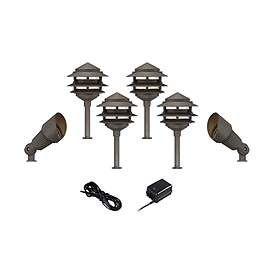 Best Pagoda Spotlight Bronze 8 Piece Led Landscape Light Kit 400 x 300