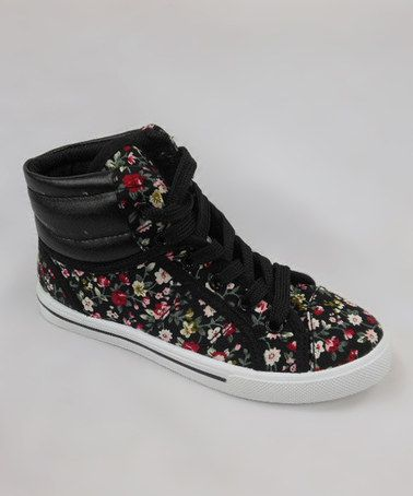 take a look at this black floral hitop sneaker
