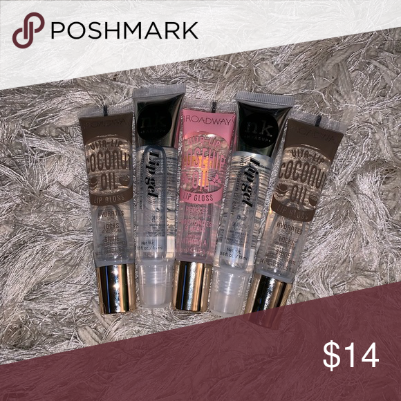Clear Rosehip Coconut Oil Glosses Comes With 2 Clear Lip Gels