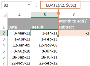 Subtract Dates In Excel Add Days Weeks Months Or Years To Date Subtraction Excel Formula Excel Date Formula
