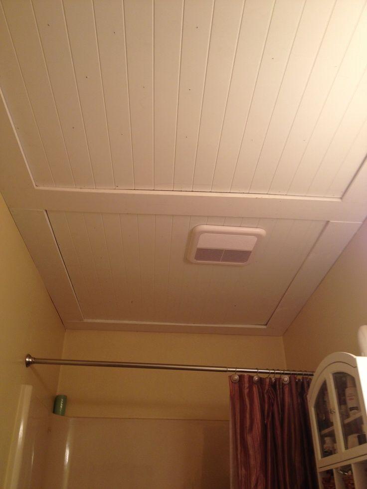 Our Beadboard Bathroom Ceiling Remodel Pinterest Beadboard