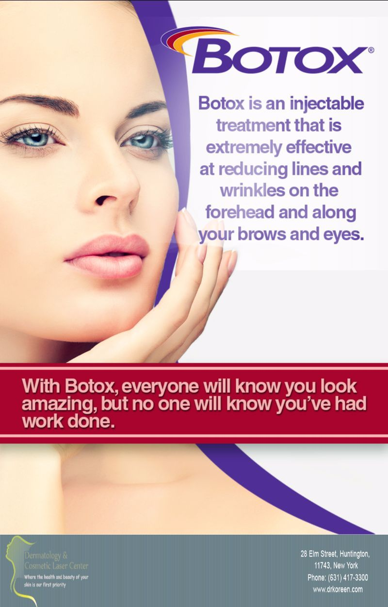 When It Comes To Injectables Like Botox Choose An Experienced Dermatologist Like Dermatology Cosmetic Laser Cen Skin Care Dermatologist Cosmetic Dermatology