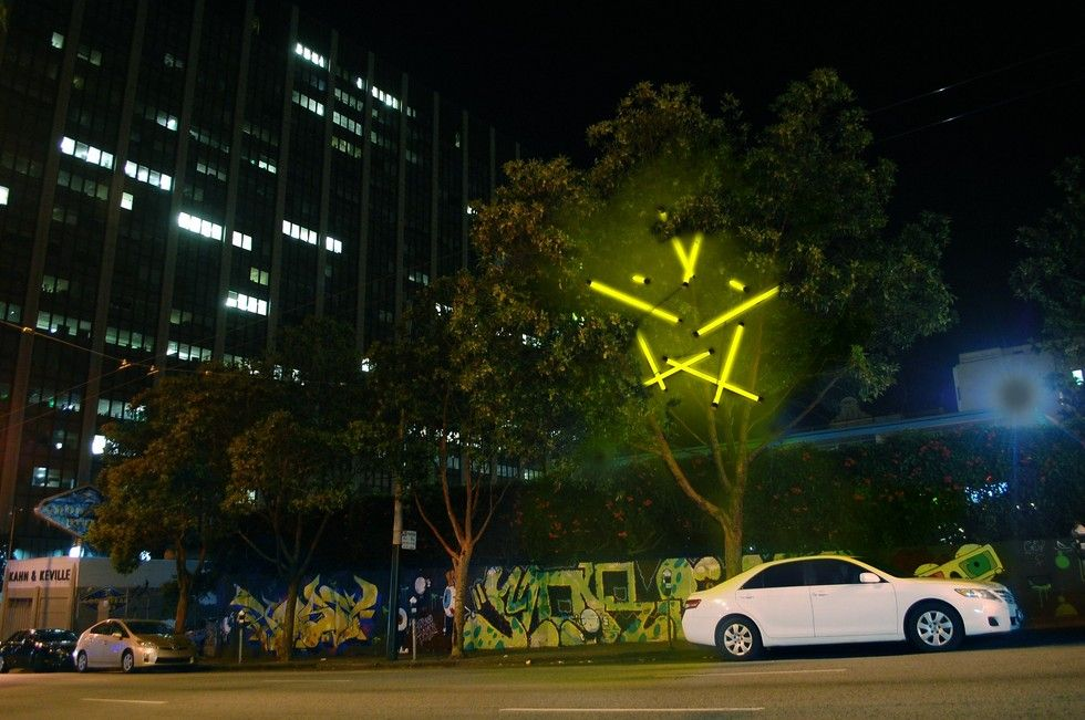 New LED art installation launched the Larkin Street Lighting competition for artists and designers across the United States to make creative #LEDlighting installations.
