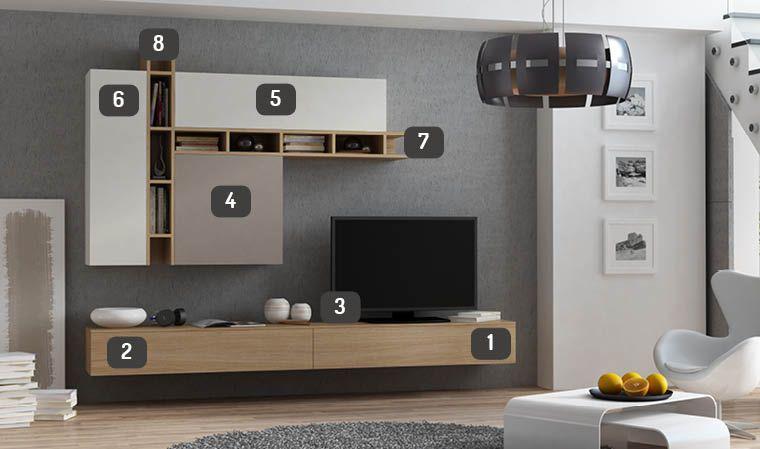 Salon Complet Mural Avec Meuble Tv Design Deco Meuble Tele Idee Amenagement Salon Meuble Tv