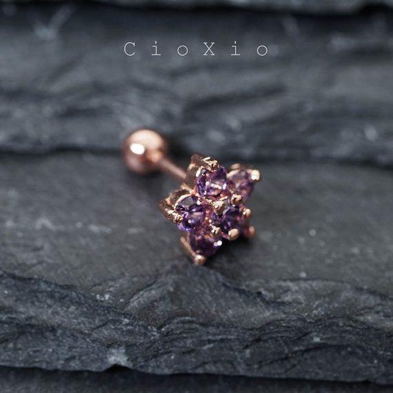 cartilage earring 16g tragus earring cartilage piercing por CioXio