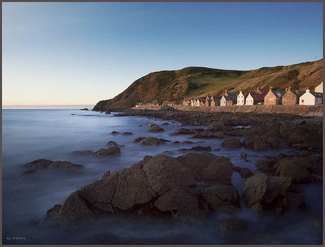Crovie Sunset by Andrew Paul Watson, Scotland