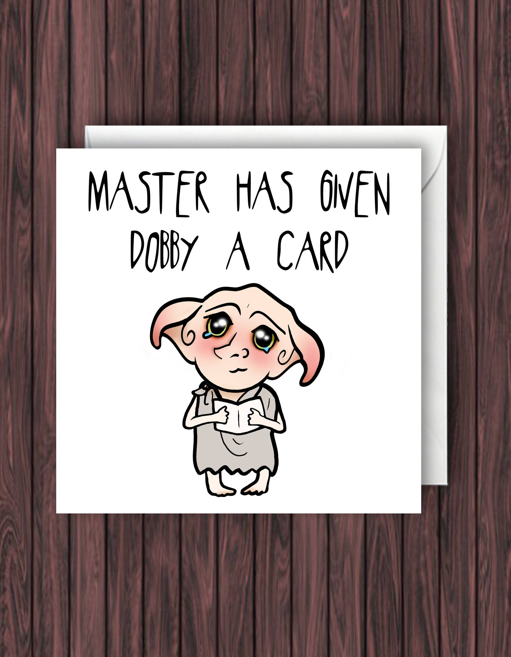 Debby Card. Harry Potter Birthday Card. Funny Greetings Card. Geek