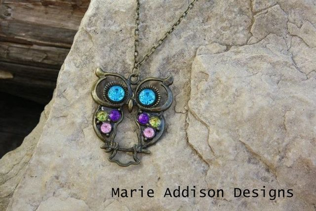 #Owl #necklace by Marie Addison on #TopHatter
