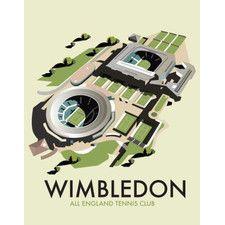 Wimbledon by Dave Thompson Vintage Advertisement on Canvas