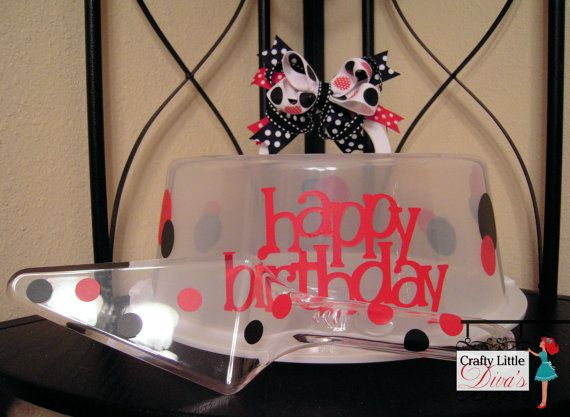 Happy Birthday Cake Carrier with Free Matching Cake Server