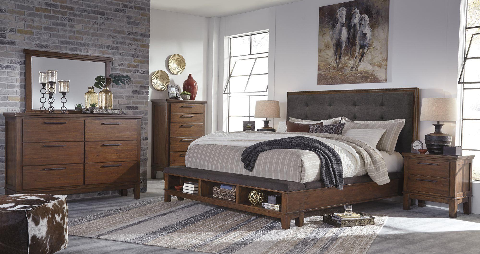 Ashley Ralene 4PC Bedroom Set Queen Upholstered Storage