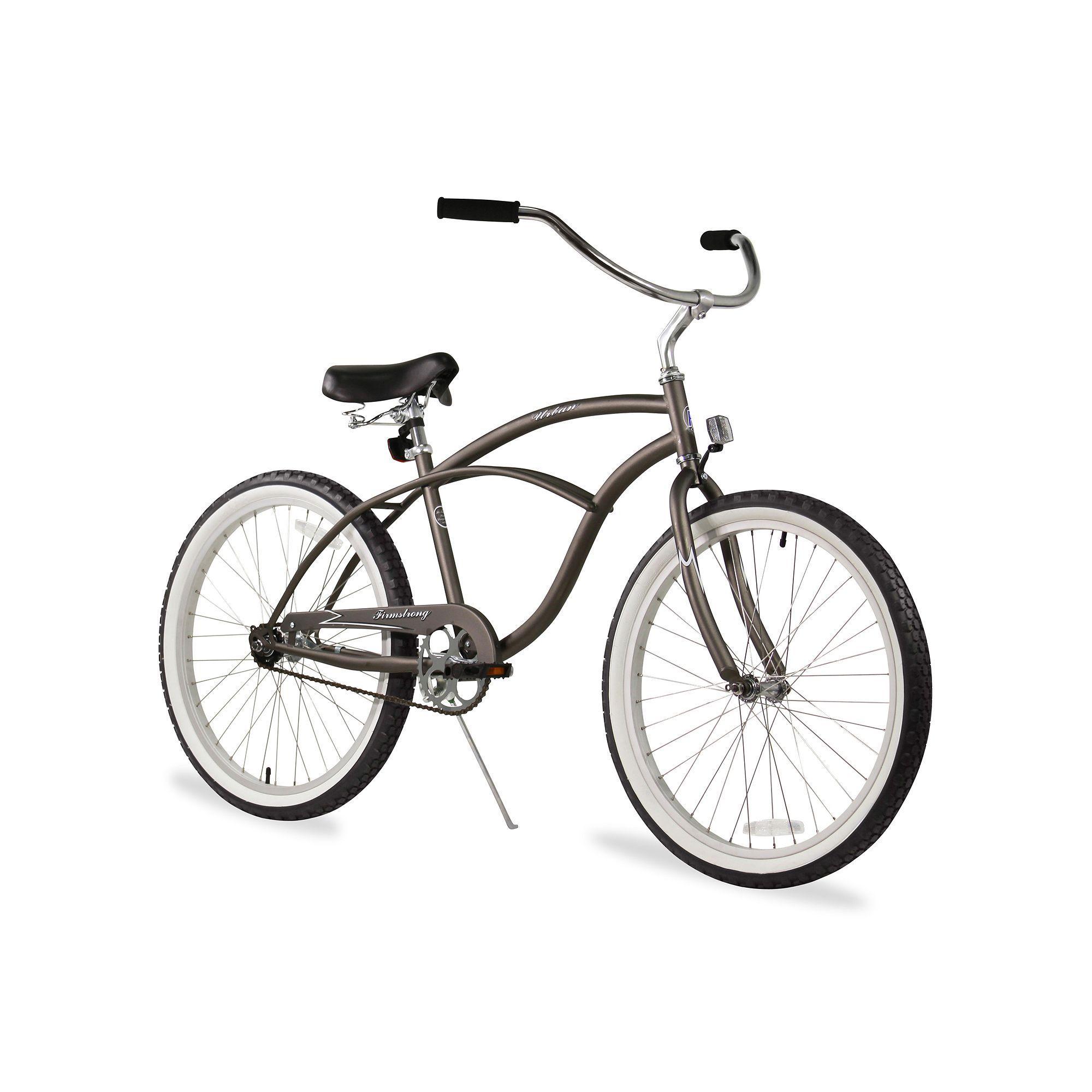 Firmstrong men s 24 in urban single speed beach cruiser bike black