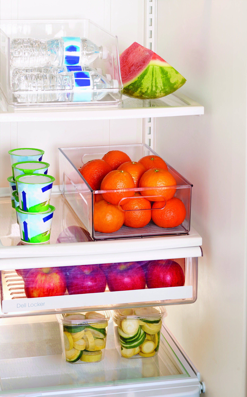 Copco Clear Refrigerator Storage Bin With Built In Handles Walmart Com Refrigerator Storage Diet Meal Plans Save Food