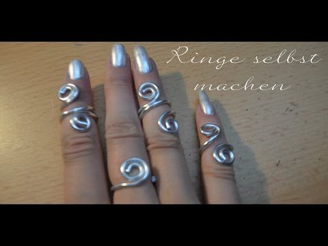 schmuck selber machen ring aus aludraht basteln mit prell youtube diy schmuck pinterest. Black Bedroom Furniture Sets. Home Design Ideas
