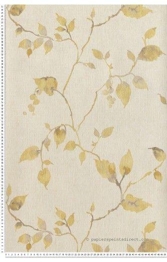 Papier Peint Papier peint jaunes Fleurs : papier peint direct, vente decoration murale et tapisserie murale de maison