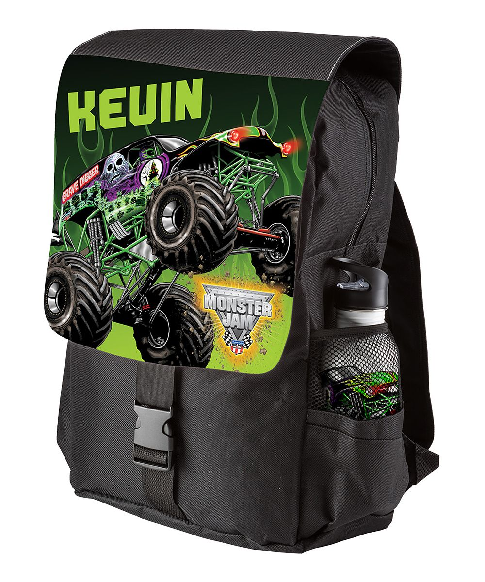 Monster Jam Grave Digger Personalized Backpack | Pinterest
