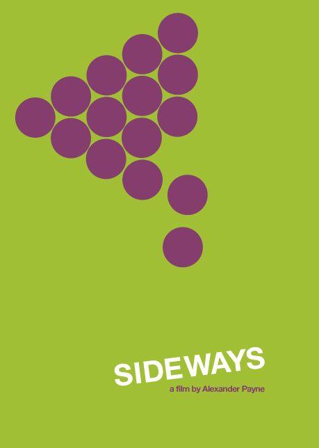 Sideways (2004) ~ Minimal Movie Poster by Jeremy Henrickson #amusementphile