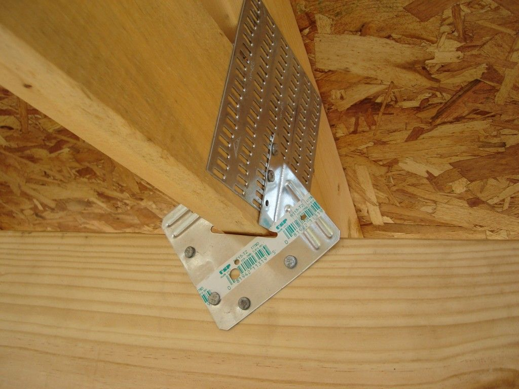 Truss Brackets help to hold the roof in extreme wind