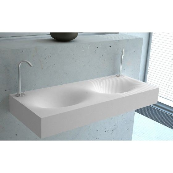 Plan double vasque cocon maximo 120 bath pinterest solid surface and bath - Plan double vasque verre trempe ...