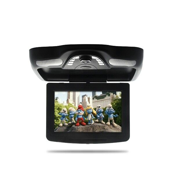 10 2 Inch Roof Mounted Car Dvd Player With Ir Headphones Flip Down Lcd Monitor Shopswagstore Com Car Dvd Players Car Audio Installation Headrest Dvd Player