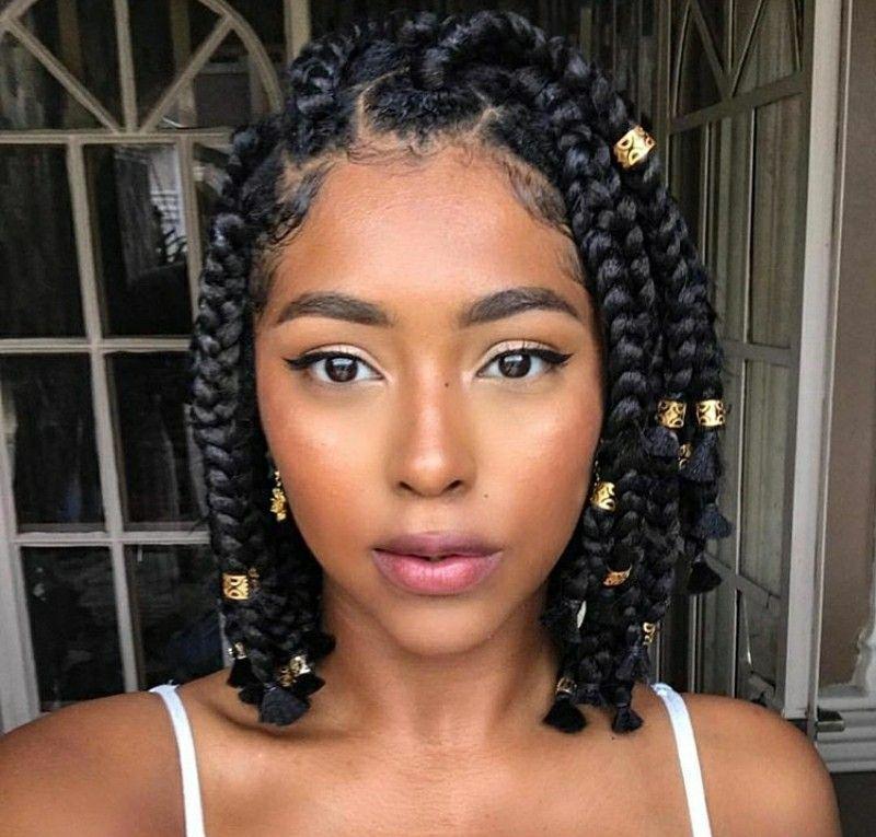 Pinterest Kayabrigette Natural Hair Styles Box Braids Styling Braided Hairstyles