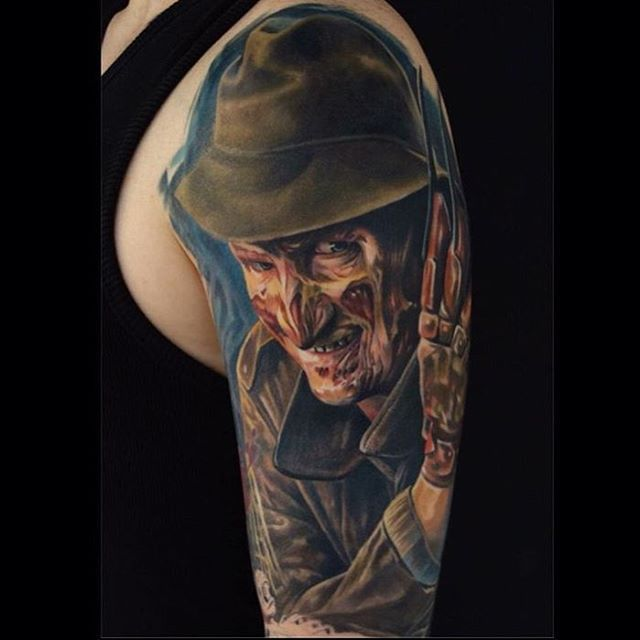 Perfect Tattoo Artists On Instagram 1 2 Freddy S Coming For You 3 4 Better Lock Your Door 5 6 Grab Horror Movie Tattoos Movie Tattoos Horror Tattoo