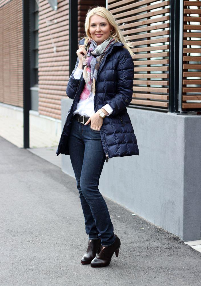Jacket: Joutsen Finland / Scarf: Massimo Dutti / Jeans: Zara / Shirt: HM / Belt: Esprit