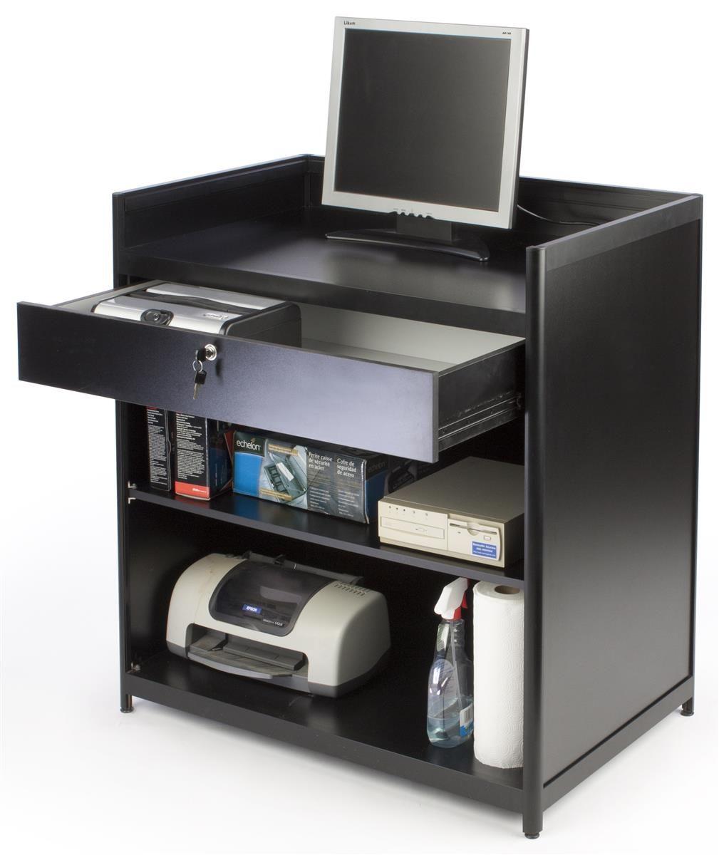 36 Cash Register Stand WLocking Drawer Adjustable Shelf