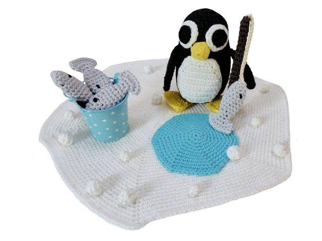 Häkelanleitung 037 Rob Der Angelnde Pinguin Pinterest
