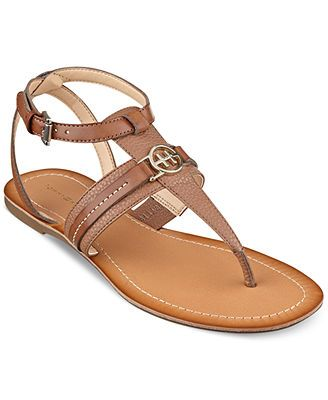 9cce1490cf0d13 Tommy Hilfiger Women s Lorine Flat Thong Sandals