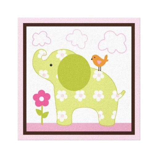Jungle Jill Elephant Girl Animals Canvas Print | Canvases