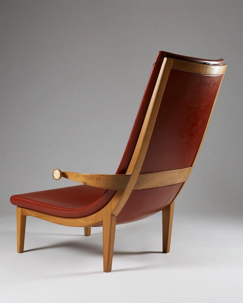 Easy Chair Senna Designed By Erik Gunnar Asplund Sweden Originally Designed 1925 And Exhibited At The Paris World Exhibition 1925 Mobiliario