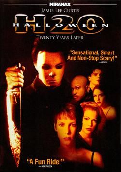 Halloween: H20 Twenty Years Later (1998), Dimension Films with Jamie Lee Curtis, Josh Hartnett, Adam Arkin, Michelle Williams, LL Cool J, and Chris Durand (as Michael Myers).