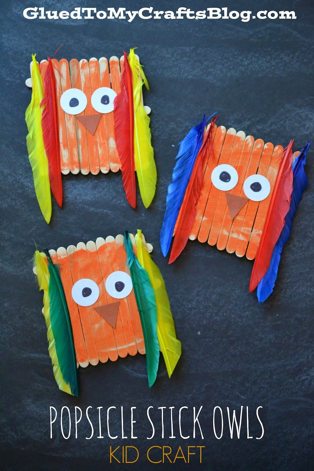 Popsicle Stick Owls Kid Craft Popsicle Stick Crafts