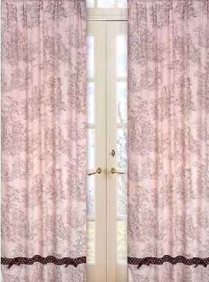 Pink And Brown Toile Drapes Curtains Window Styles Window Panels