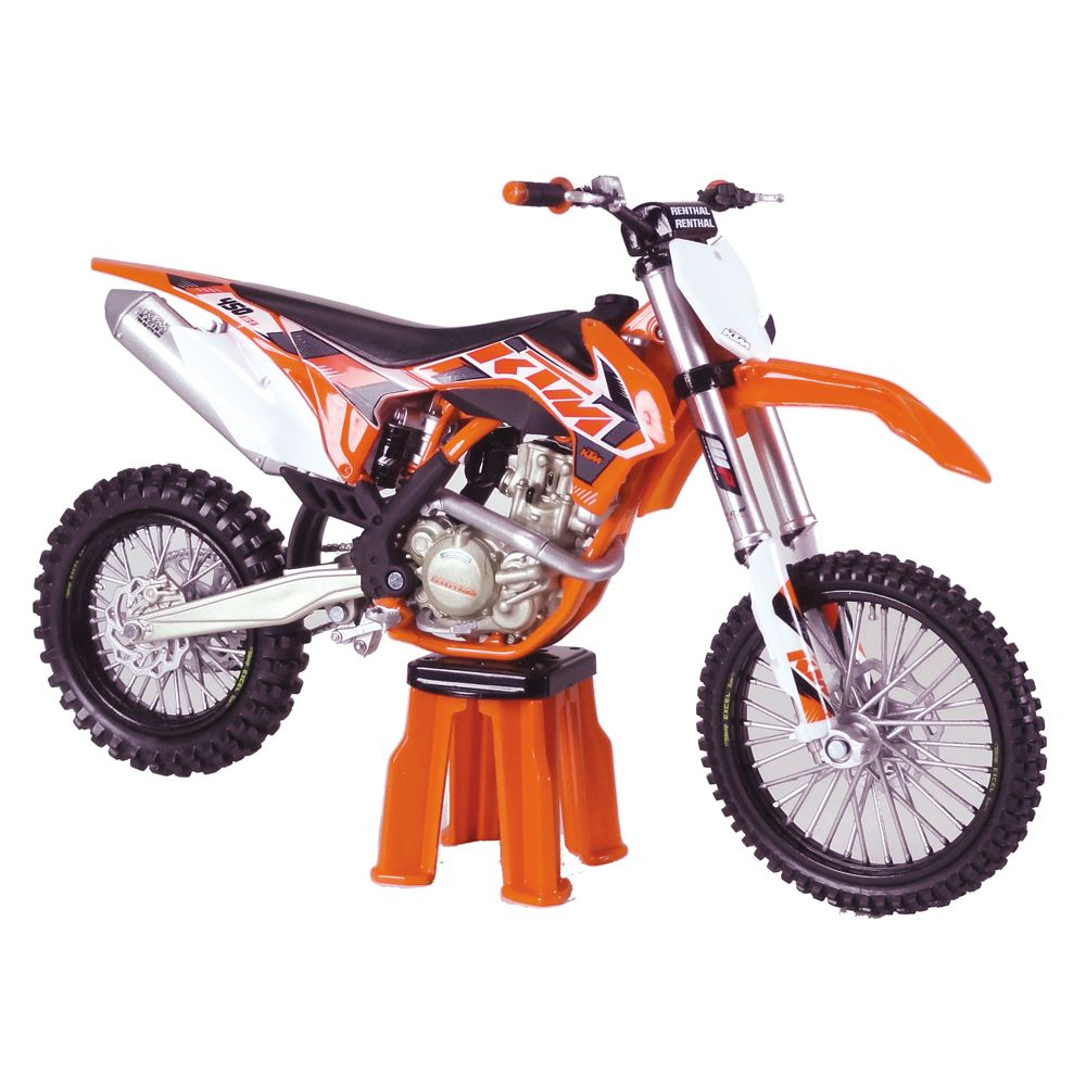 repliques de moto cross racetoys ktm 450 sx f 2015 miniatures de cross motos y carros. Black Bedroom Furniture Sets. Home Design Ideas