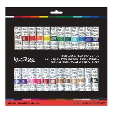 Momenta Inc Brea Reese Acrylic Paint Set 24 Pieces Acrylic