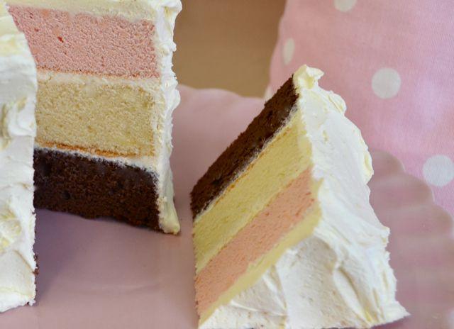 Recipe for neapolitan cake
