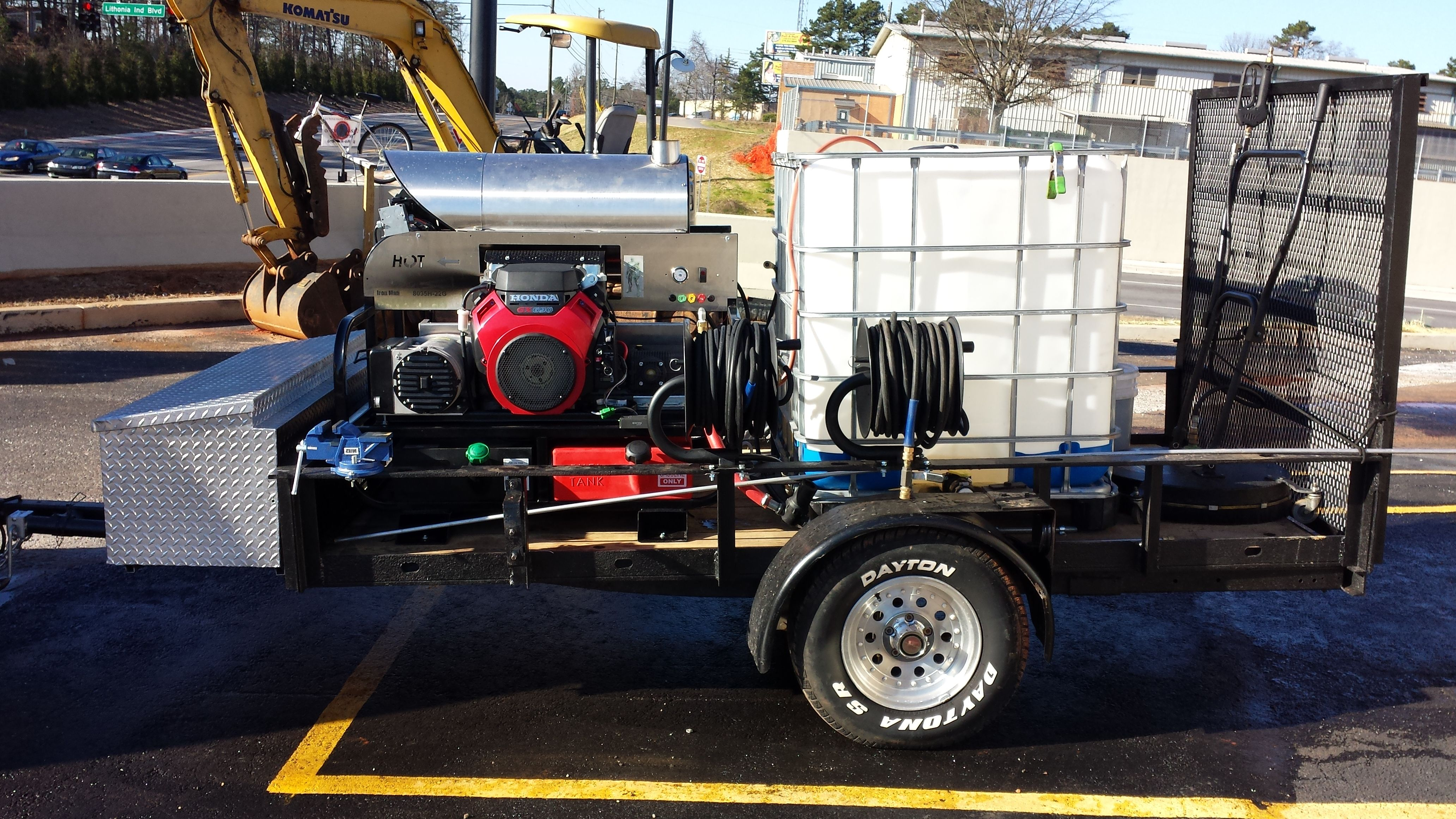 Rent To Own 8 0 Gpm Hot Water Pressure Washer Trailer