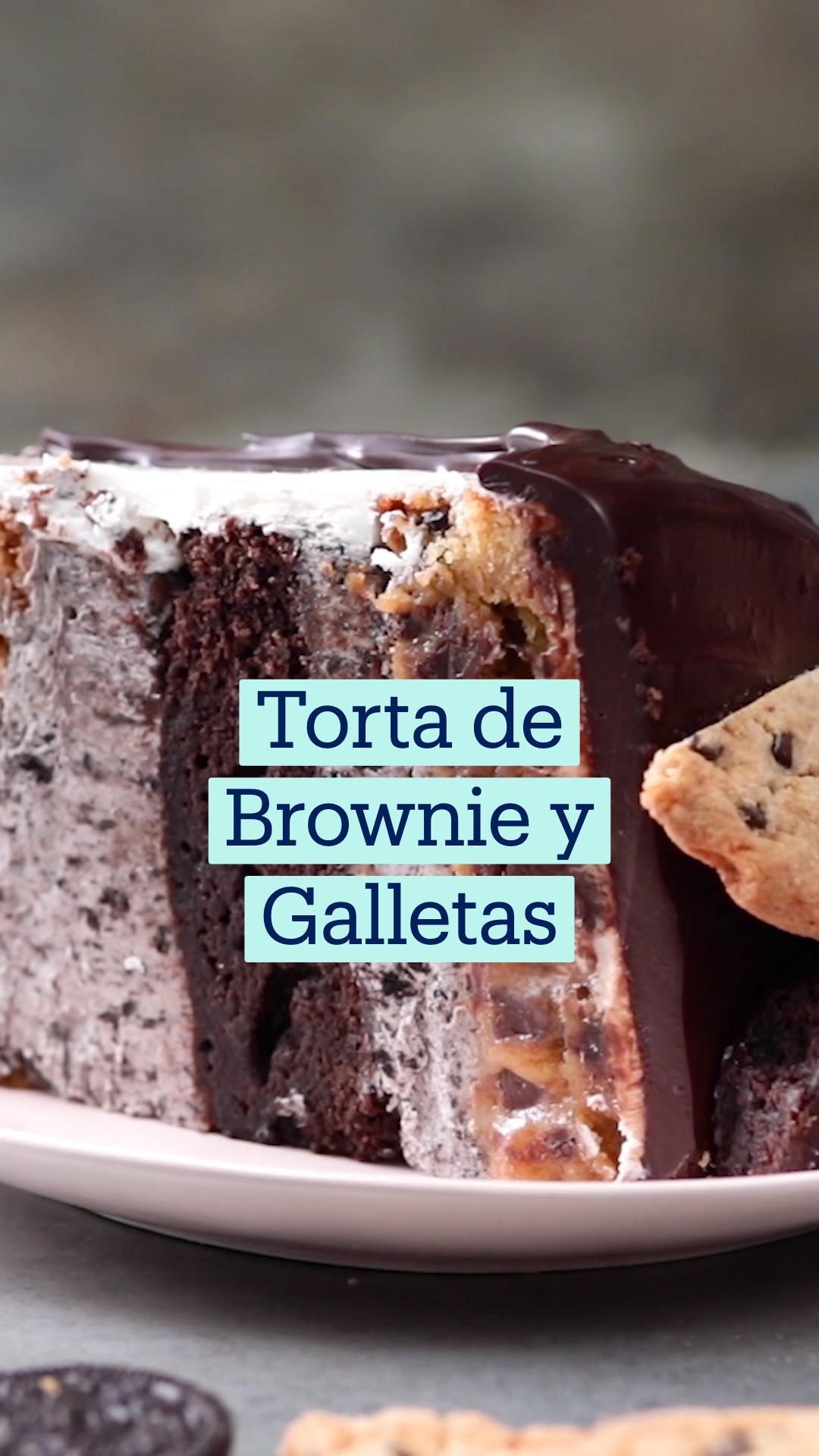 Torta de Brownie y Galletas