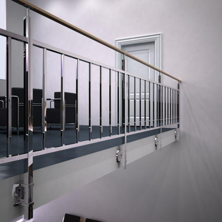 Sistema de barandillas de acero inoxidable en acabado for Acabados apartamentos pequenos