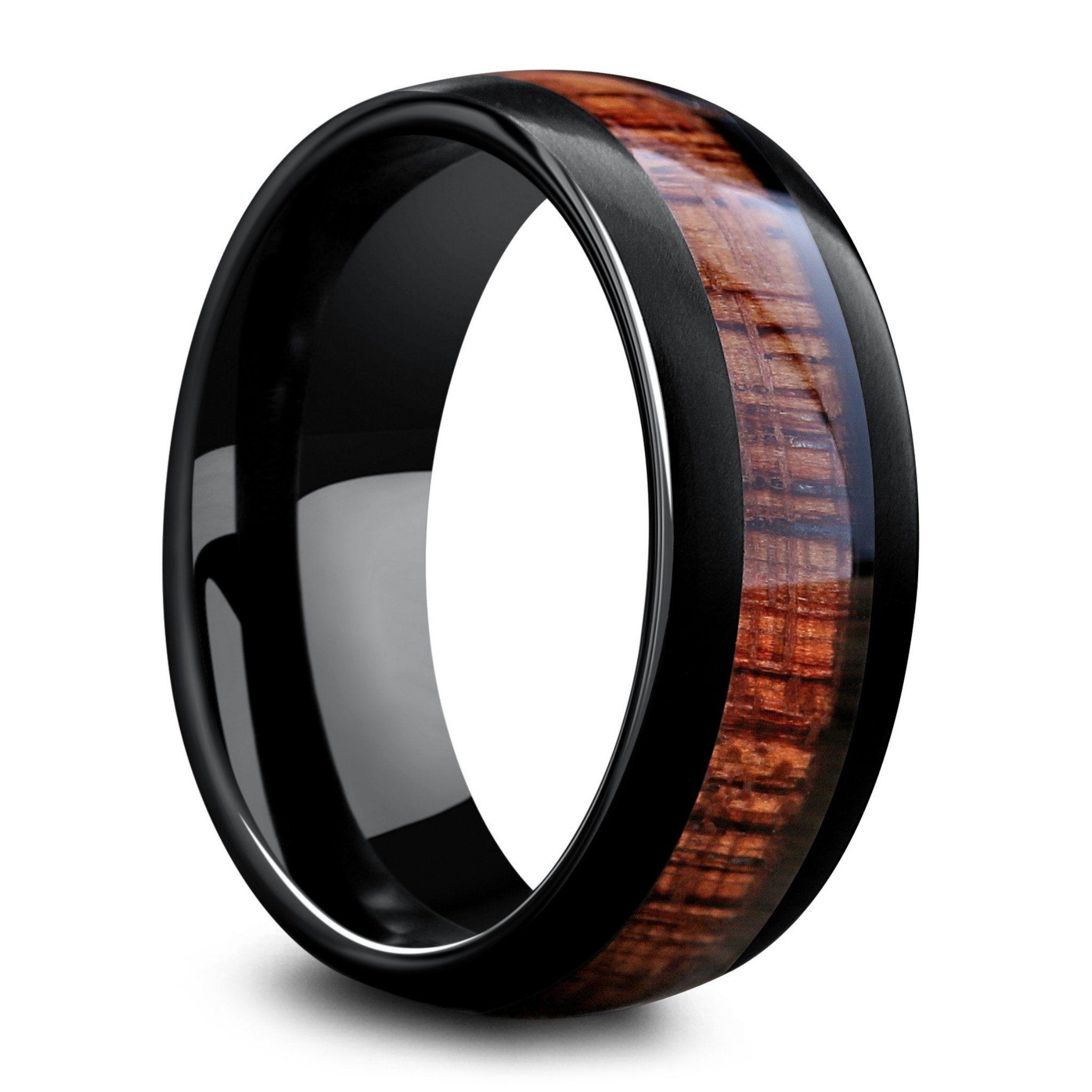 Banff Black Tungsten With Koa Wood Inlay in 2020 Black